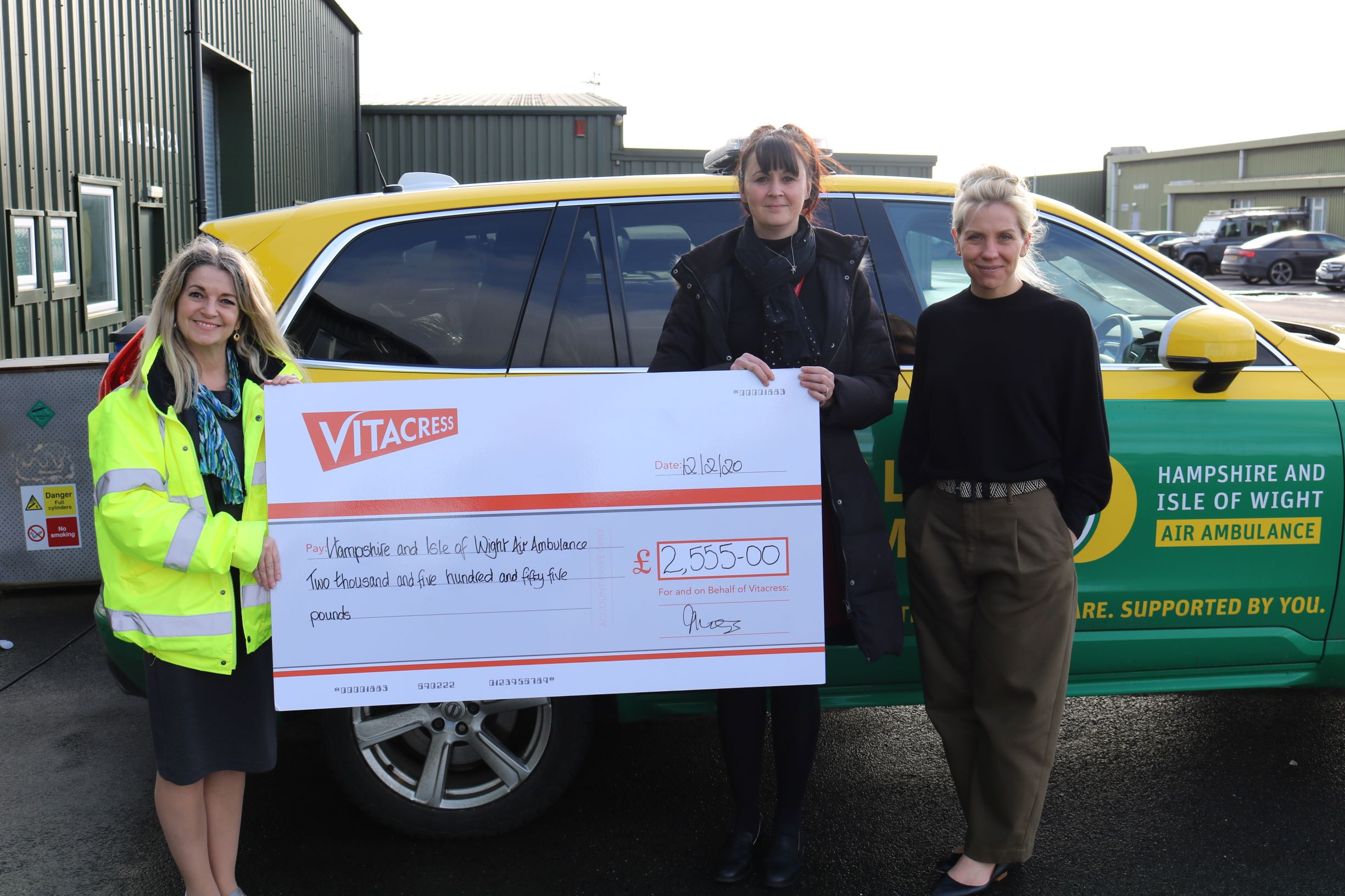 Vitacress Salads Raises Funds for Hampshire Isle of Wight Air Ambulance