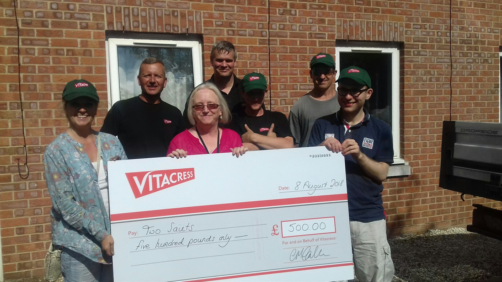 Vitacress Salads raises more than £1700 for local Andover homeless charity