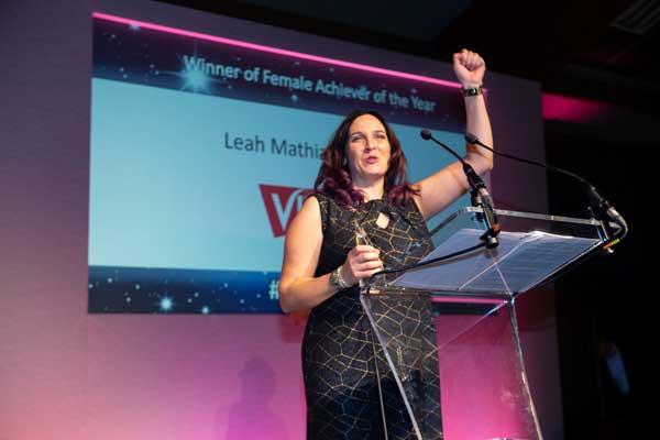 Leah Mathias-Collins wins Female Achiever of the Year at Inspire Business Awards 2018